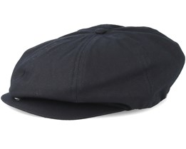 Brood Adjustable Black Flat Cap - Brixton