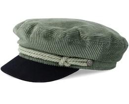 Fiddler Green/Black Flat Cap - Brixton