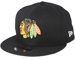 Chicago Blackhawks Basic Black Snapback - New Era