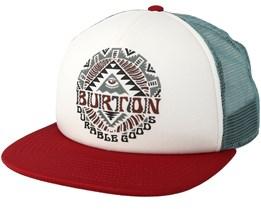 Fired Brick Trucker White Snapback - Burton