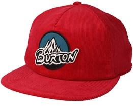 Retro Fiery Red Snapback - Burton