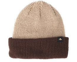 Triangle Cuff Tan Brown Beanie - Emerica
