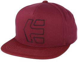 Sktech Icon Burgundy Red Snapback - Etnies