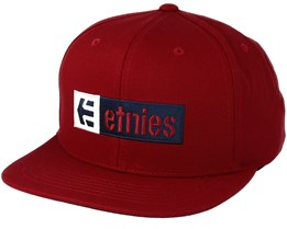 Corp Box Mix Red Snapback - Etnies