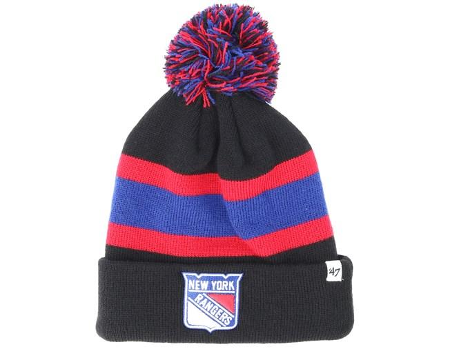 the best attitude 30d95 c0eb3 ... shopping new york rangers breakaway knit black pom 47 brand beanies  hatstore 940e8 e44d4