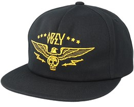 Wings Black Snapback - Obey