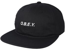 Barrage 6 Panel Black Snapback - Obey