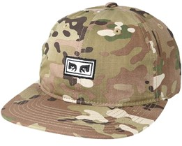 Overthrow 6 Panel Desert Camo Snapback - Obey