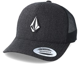 Full Stone Cheese Heather Black Trucker - Volcom