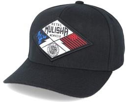 Patriotic Curved Black Flexfit - Metal Mulisha