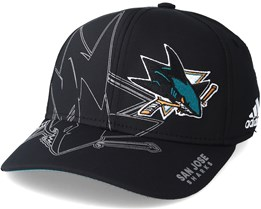 San Jose Sharks Second Season Structured Black Flexfit - Adidas