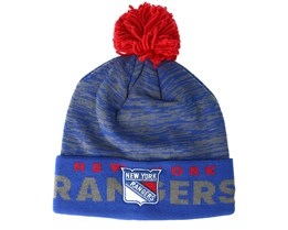 New York Rangers Cuffed Knit Blue/Grey Pom - Adidas
