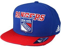 New York Rangers Dassler Brim Blue Snapback - Adidas