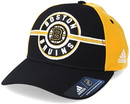 Boston Bruins Strucured Black/Yellow Adjustable - Adidas