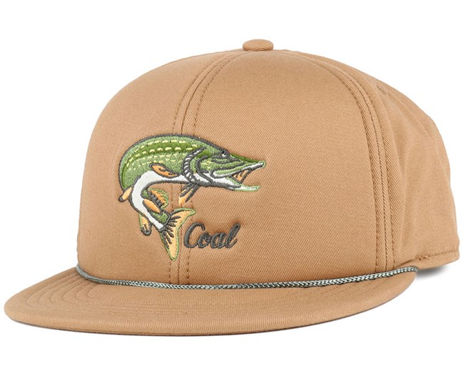 The Wilderness Light Brown Pike Snapback - Coal