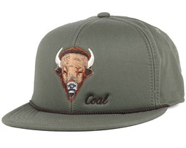 The Wilderness Olive Bison Snapback - Coal