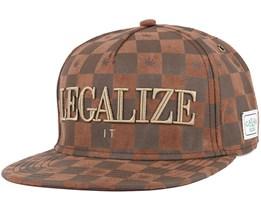 Legalize it Brown/Gold Snapback - Cayler & Sons
