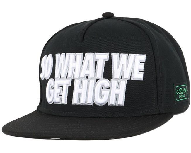 We Get High Black/Grey Snapback - Cayler & Sons