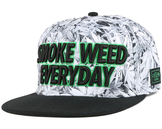 Everyday White Kush/Black Snapback - Cayler & Sons