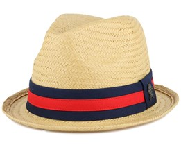 Luige Straw Sand/Forest Green Fedora - Cayler & Sons