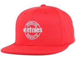 Logo Red Snapback - Etnies