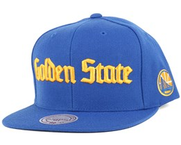 Golden State Warriors Gothic City Blue Snapback - Mitchell & Ness