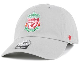 Liverpool FC Crest Clean Up Grey Adjustable - 47 Brand