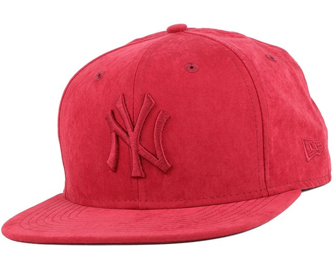 NY Yankees Leather Maroon/Maroon 9Fifty Snapback - New Era