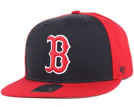 Boston Red Sox Sure Shot Accent Red Snapback - 47 Brand