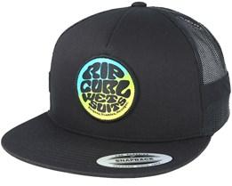 Fade Trucker Black Snapback - Rip Curl