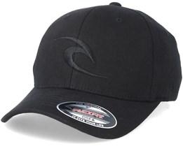 Tepan Curved Peak Black Adjustable - Rip Curl