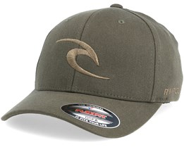 Tepan Curved Peak Dark Olive Adjustable - Rip Curl