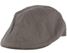 Driver Olive Grey Flat Cap - Yupoong