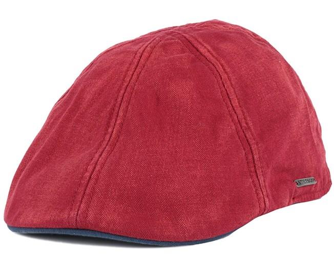 Texas Cotton Red Flat Cap - Stetson