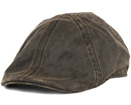 Level Co/Pe Brown Flat Cap - Stetson