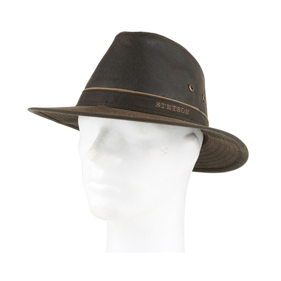 47228c8ae1c ... coupon for ava waxed cotton brown trilby stetson hats hatstore f3c4f  12518