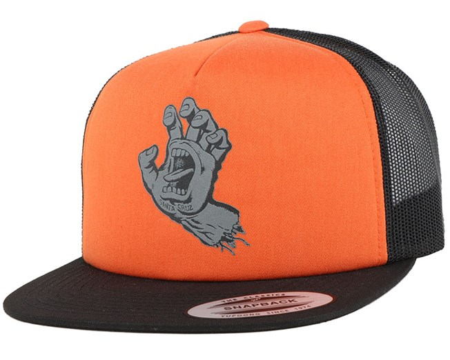 Screaming Hand Hazard Orange Snapback - Santa Cruz