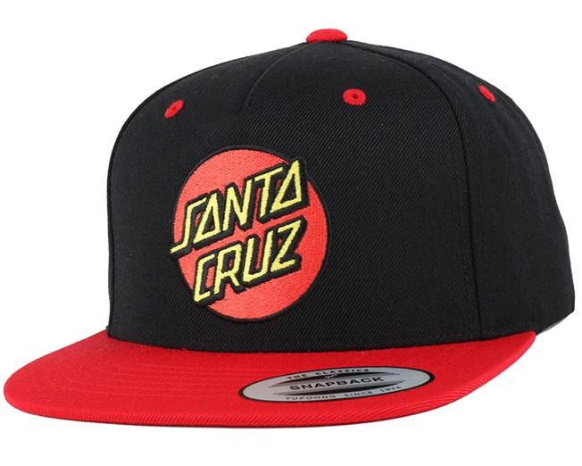Classic Red/Black Snapback - Santa Cruz