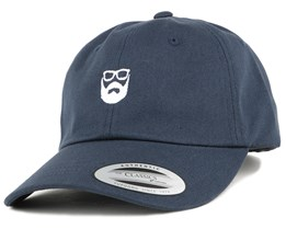 Dad Cap Navy/White Adjustable - Bearded Man