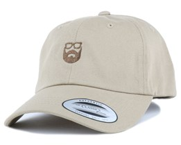 Dad Cap Khaki/Brown Adjustable - Bearded Man