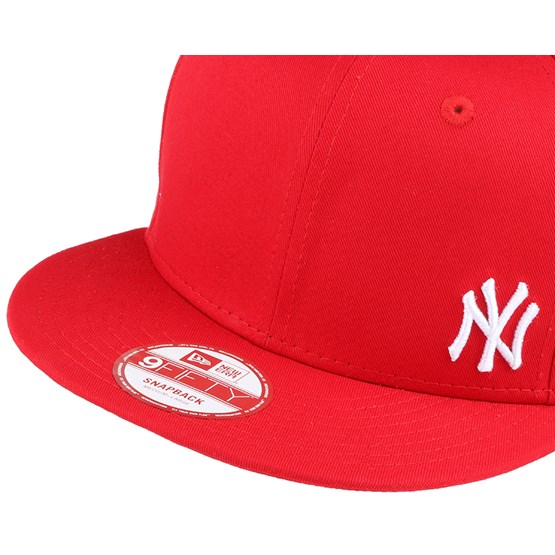 ny yankees flawless scarlet white 9fifty snapback new. Black Bedroom Furniture Sets. Home Design Ideas