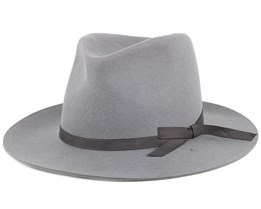 Manhattan Light Grey Fedora - Brixton