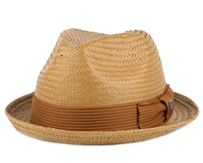 Castor Copper Fedora - Brixton - chapeau   Hatstore.fr 01b2af4eb48