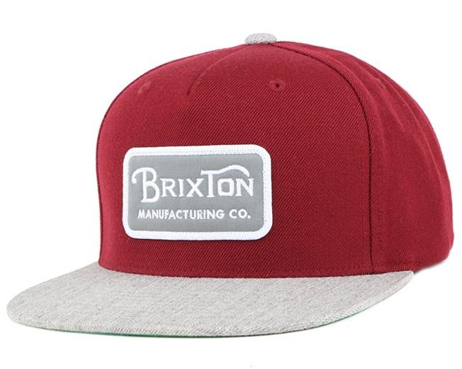Grade Burguny/Heather Grey Snapback - Brixton
