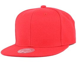 Blank Red Snapback - Mitchell & Ness