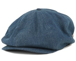 Brood Dark Denim Flat Cap - Brixton
