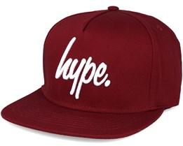 Script Burgundy/white  Snapback- Hype