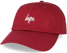 Script Burgundy/white Adjustable - Hype