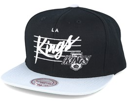 Los Angeles kings Cursive Script Logo Black Snapback - Mitchell & Ness
