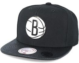 Brooklyn Nets Ultimate Black Snapback - Mitchell & Ness